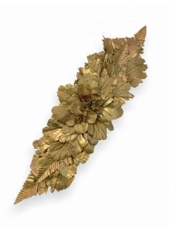 Bolso de fiesta antelina marco dorado