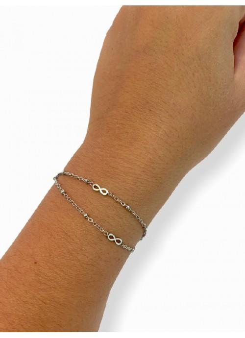 Collar gargantilla de perlas con broche deFlor de tela lunares