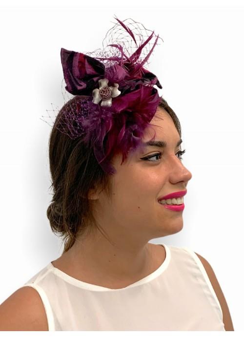 CINTURON  elastico con con flor de plumas colorvdorado