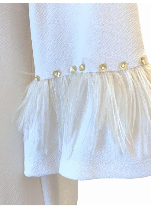 Vestido nudo punto de seda animal print