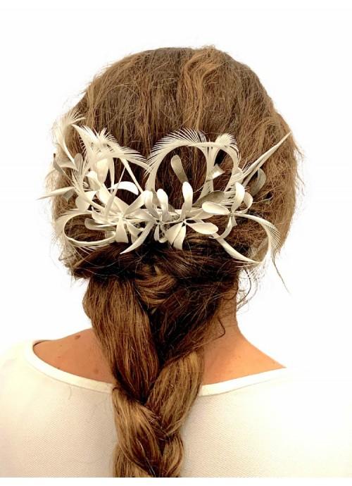 SOMBRERO fieltro cinta espiral color beige