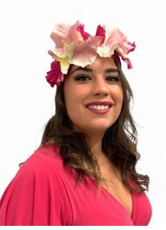 comunión media corona hortensias